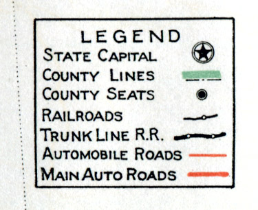 Complete Map Of Texas.Old Highway Maps Of Texas