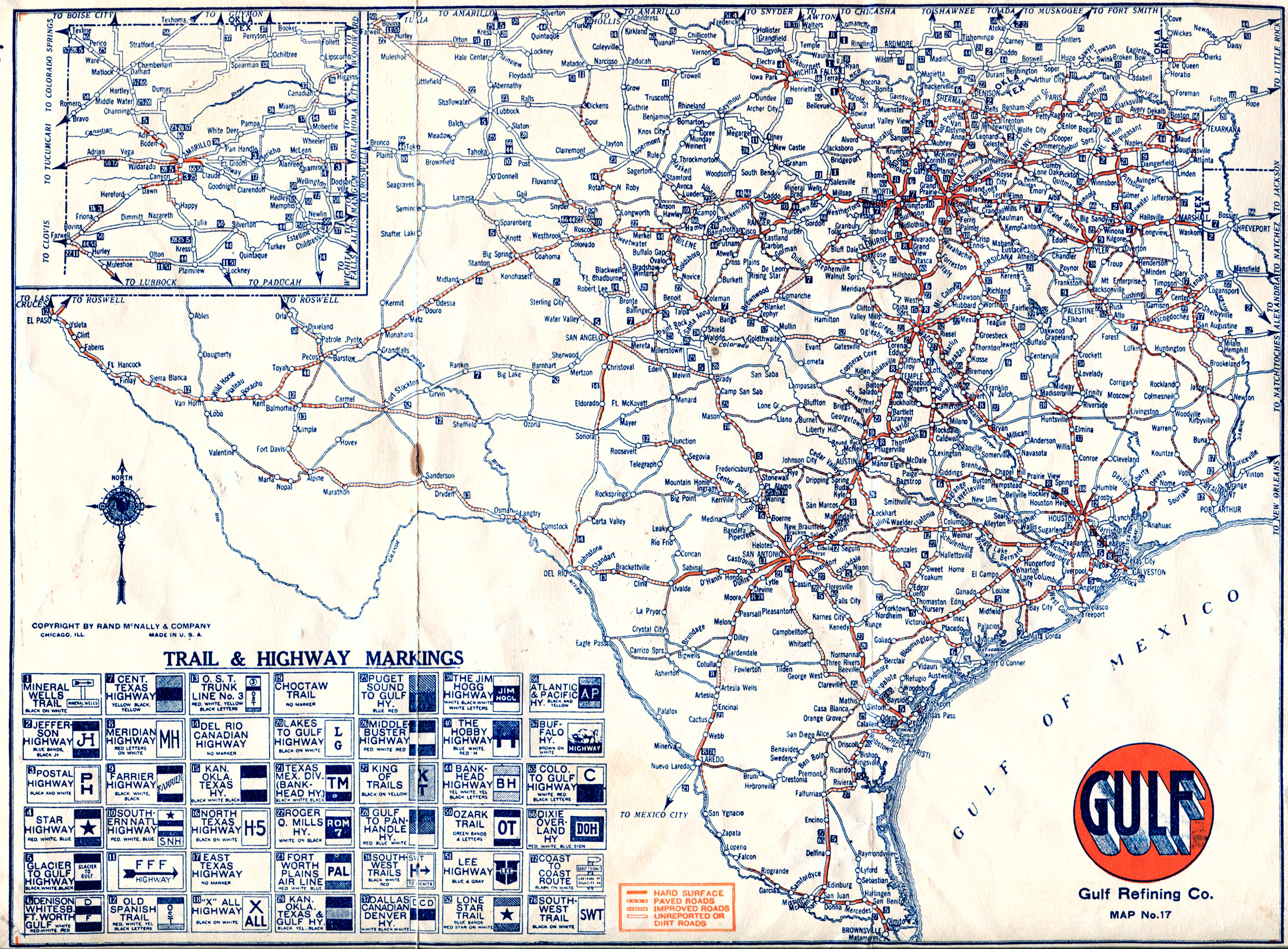 Map Of Texas With Highways.Old Highway Maps Of Texas