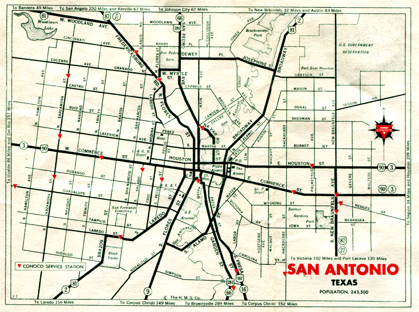 Old Highway Maps Of Texas - Us highway map 1960