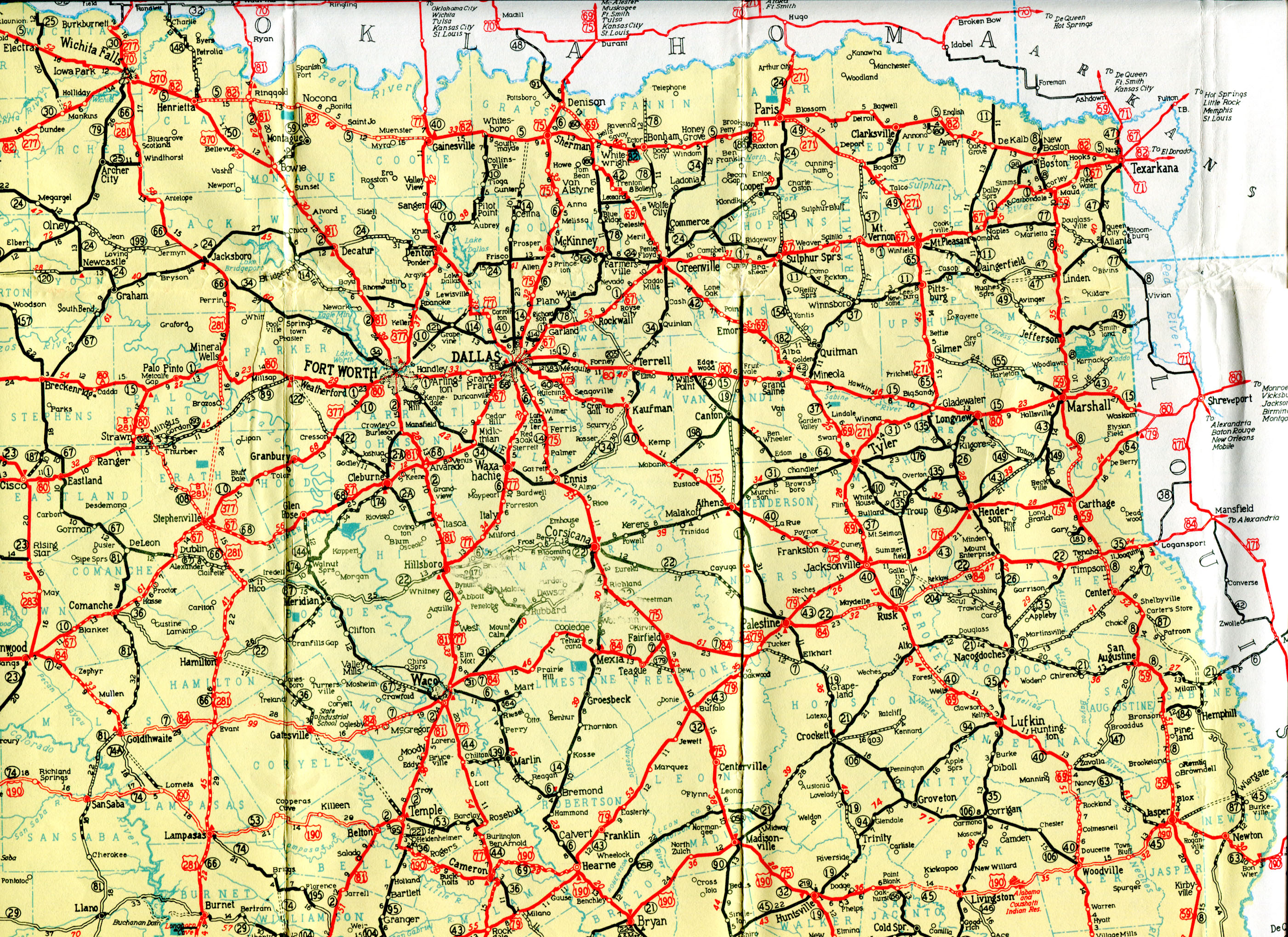 Old Highway Maps Of Texas - Map of the texas