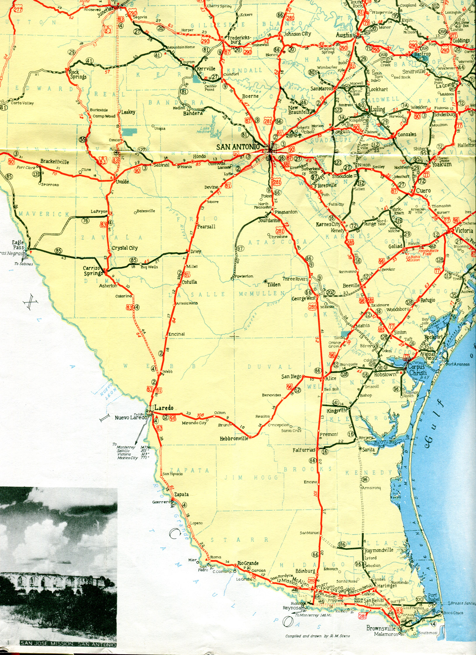 Map Of Texas Highway 77.Old Highway Maps Of Texas