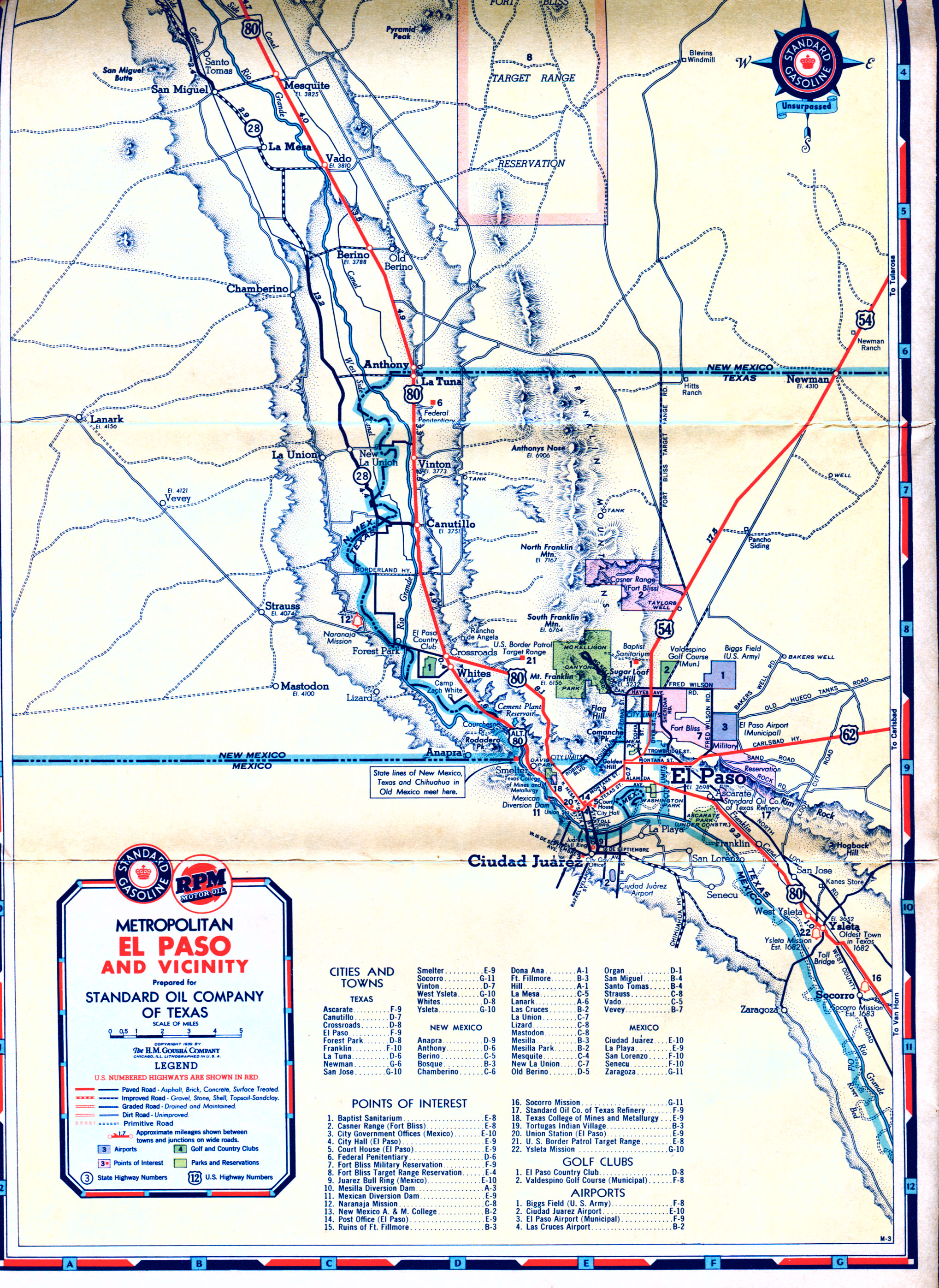 Old Highway Maps Of Texas - Us highway 80 map