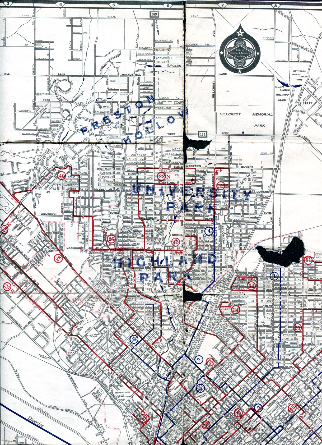 Old Dallas Map.Old Highway Maps Of Texas