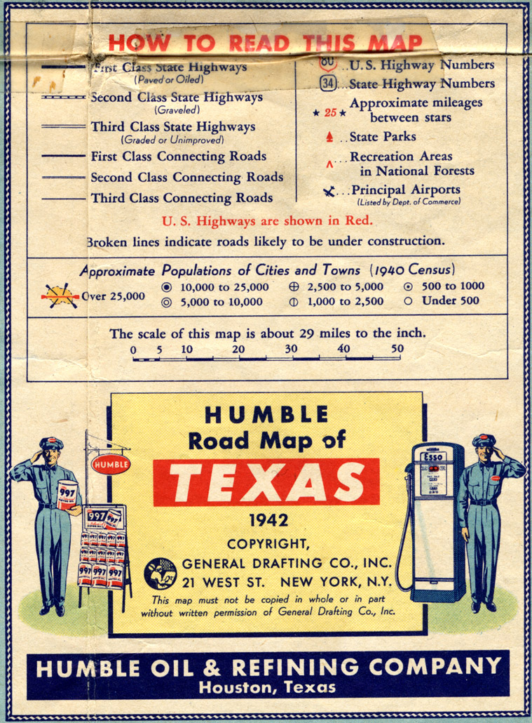 Old Highway Maps Of Texas - Us highway map 1940