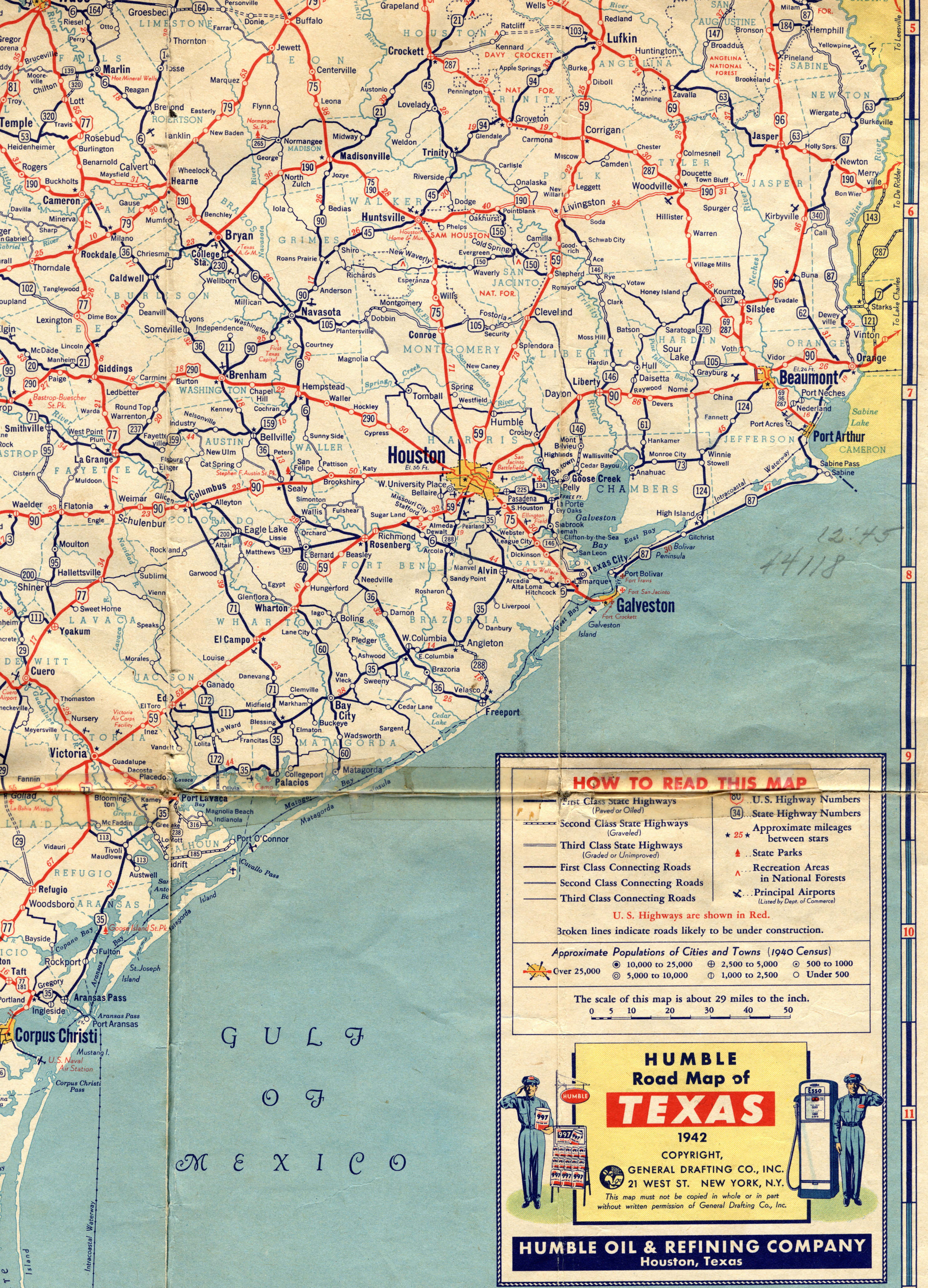 Map Of South East Texas.Old Highway Maps Of Texas