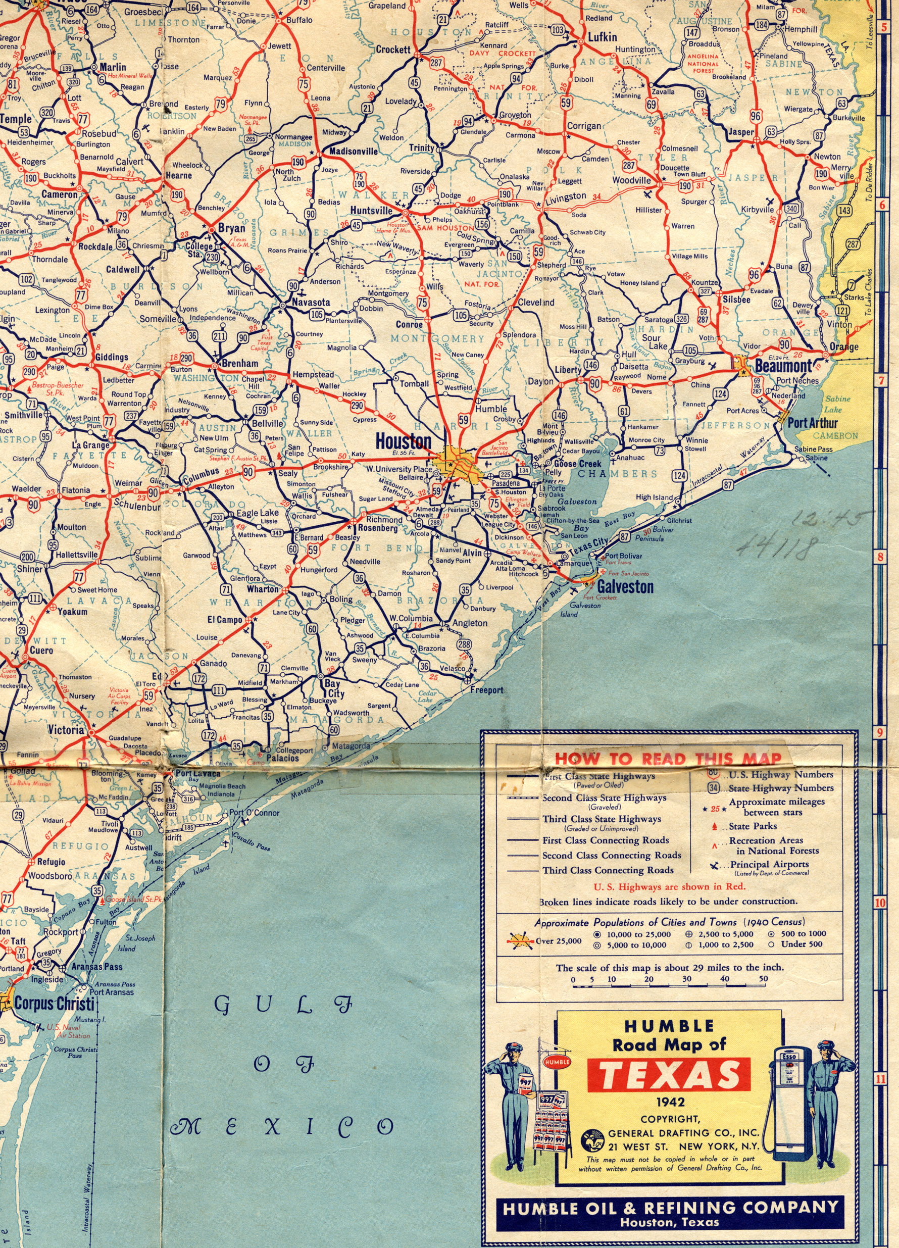 Old Highway Maps Of Texas - Atlas map of texas