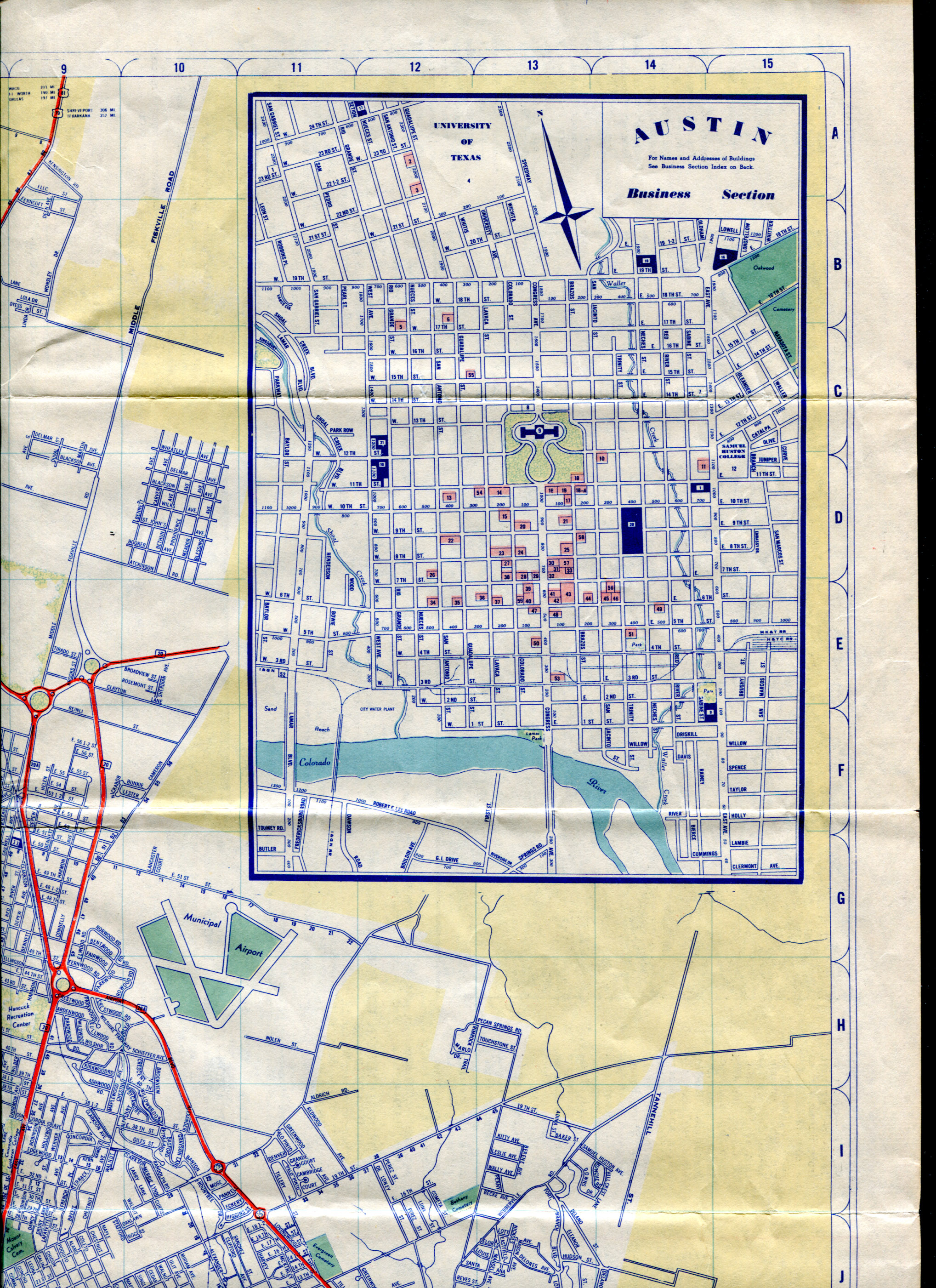 Austin Drivers Acting Like Roundabouts Are New Portion Of 1952 Map