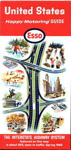 map cover 1965 united states interstate